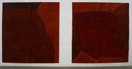 'Relative Conversations', 2004. Acrylic on paper, each 200x200cm.