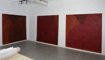 Installation of Relative Conversations in artists studio. Photographer: Carl Warner.