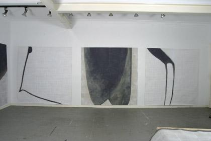 'One Dances', 2003. Installation in artist studio, acrylic on paper, 200 x 200cm each Photo: Carl Warner.