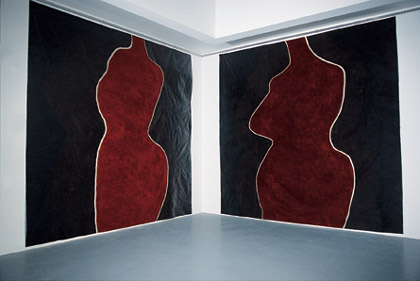 'Projections for Eliza 5', 1999. Acrylic on paper, each 300 x 300cm. Installed at University Art Museum, UQ Photo: Carl Warner