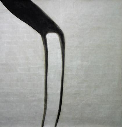 'One Dances', 2003. Acrylic on paper, 200 x 200cm Photo: Carl Warner.