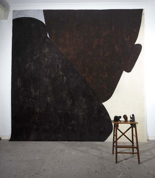 'Desire', acrylic on paper, 300 x 300cm and 'Propositions', 2010, bronze, dimensions variable.