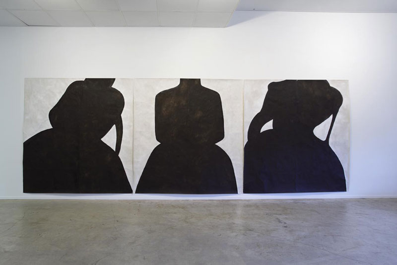 Installation of 'Desire', works on paper, 2010, acrylic on Japanese paper, 200 x 200cm (each).