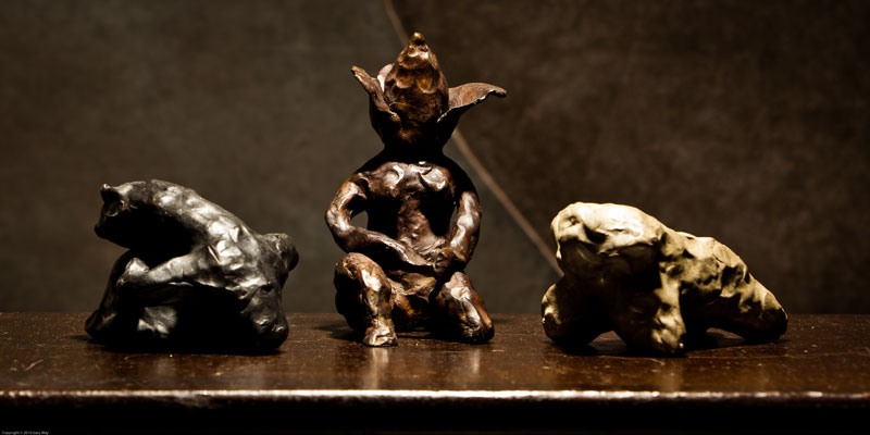 'Propositions', 2010, bronze, dimensions variable.
