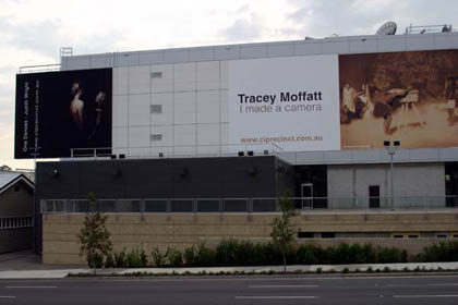 Installation of QUT Billboard. Photographer: Carl Warner.
