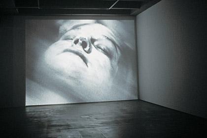 'Blind of Sight I', 2002. Installation detail, Institute of Modern Art, video still. Photograph: Richard Stringer
